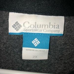 Columbia Zippered Fleece Vest Men's Sz 2XL